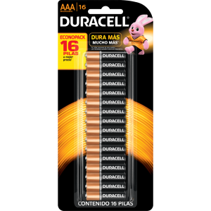 Pilha Duracell AAA Básica - Cartela com 16 unidades