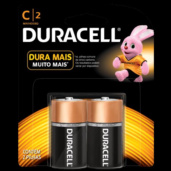 Pilha Alcalina Duracell C Básica