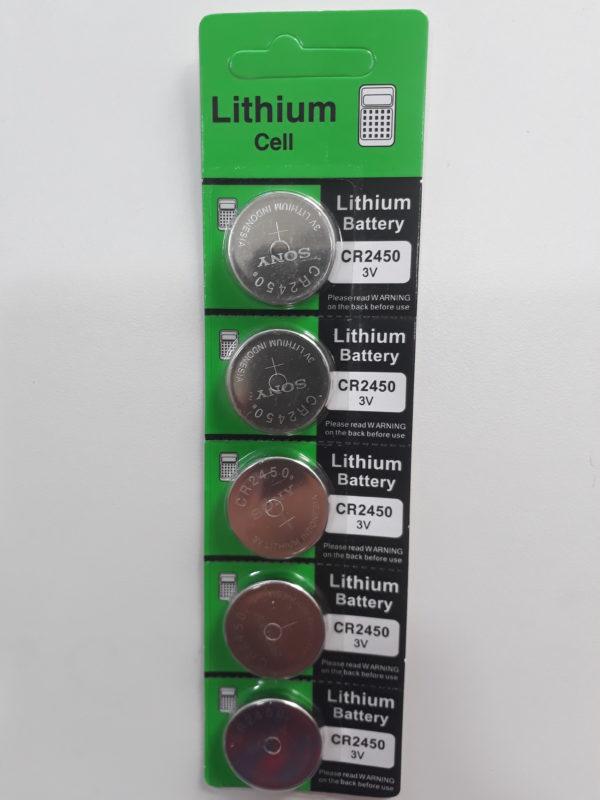 Bateria moeda Lithium CR2450 Sony