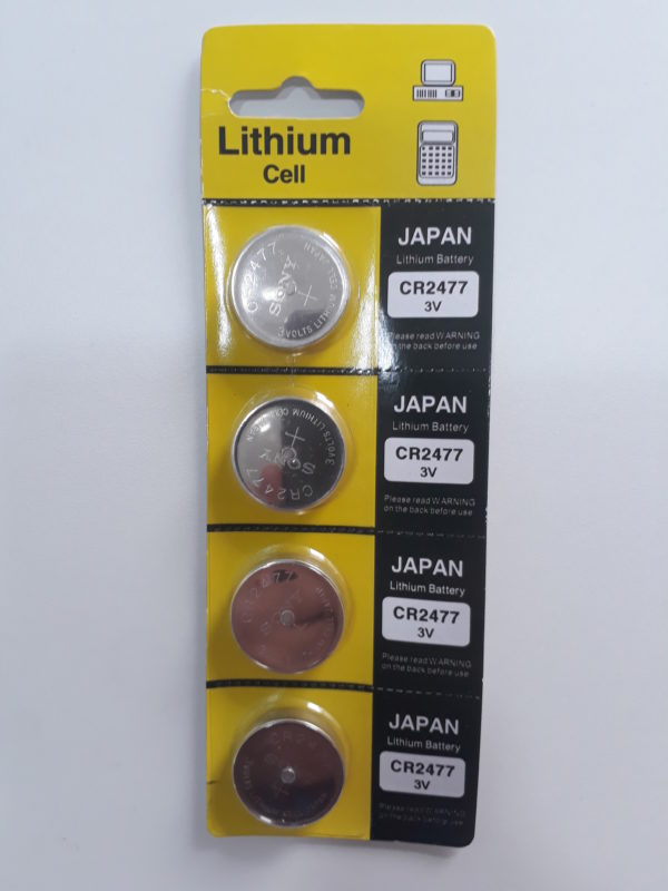 Bateria moeda Lithium 3V CR2477 Sony