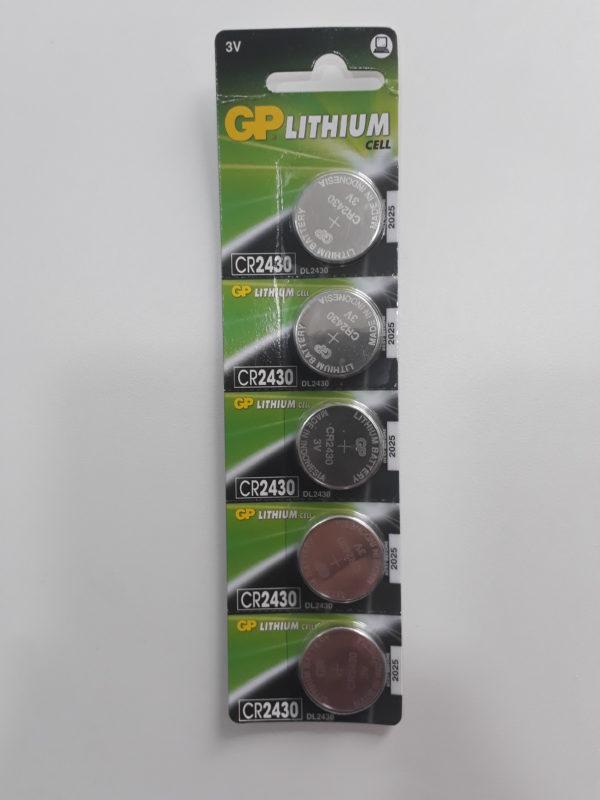 Pilhas tipo Moeda de Lithium CR2430 GP