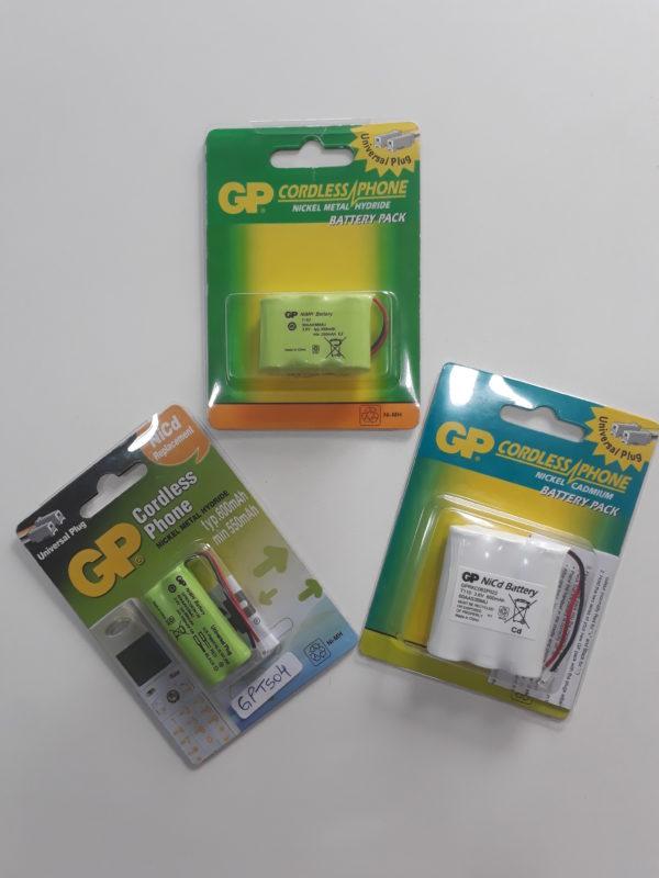 Pilhas Recarregáveis para telefone sem fio GP