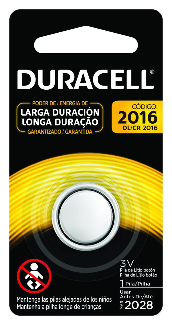Bateria Duracell 3V Lithium 2016